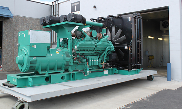 Cummins Genset On Platform Outside Hotstart Cold Room