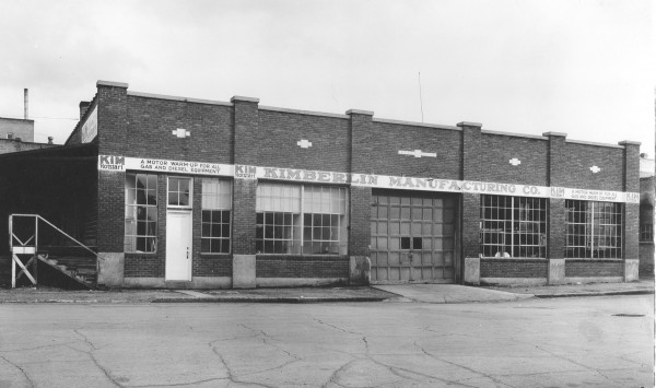 Historical picture of the first manufacturing building for Kimberlin  Manufacturing which is known as Hotstart today