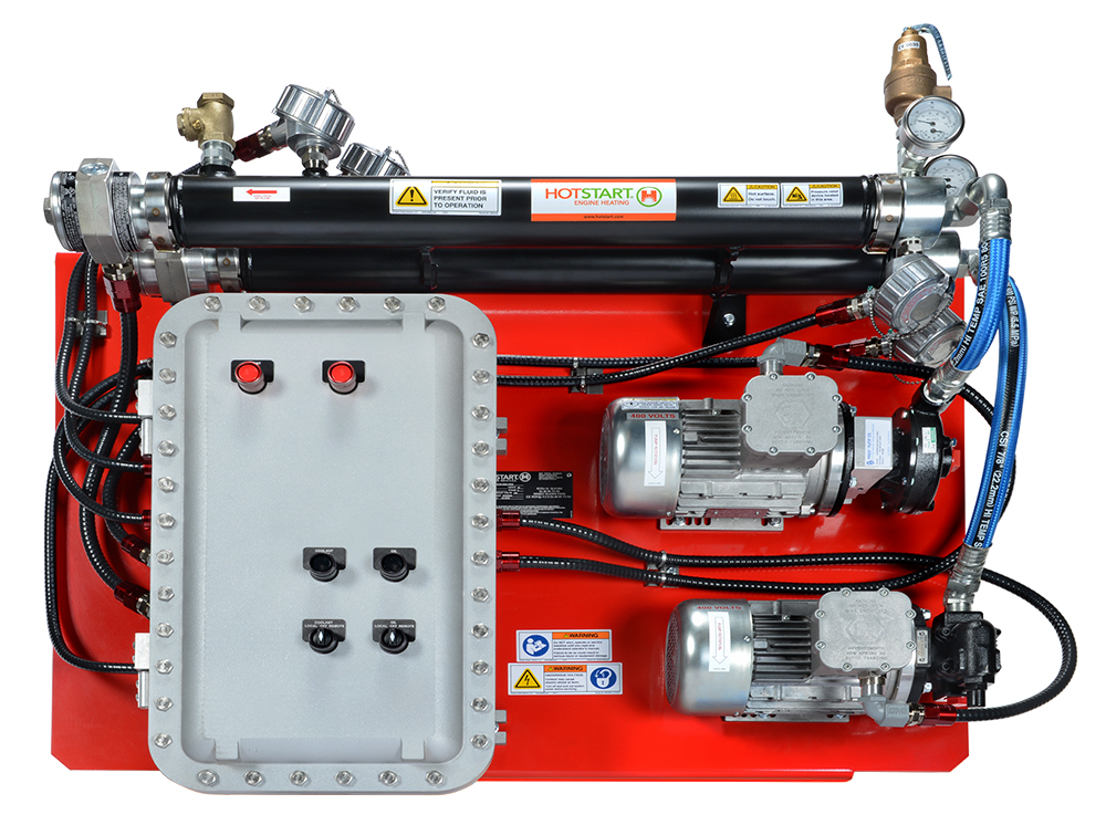 Hotstart's largest capacity combination, IECEx oil & gas heating system designed for hazardous locations.