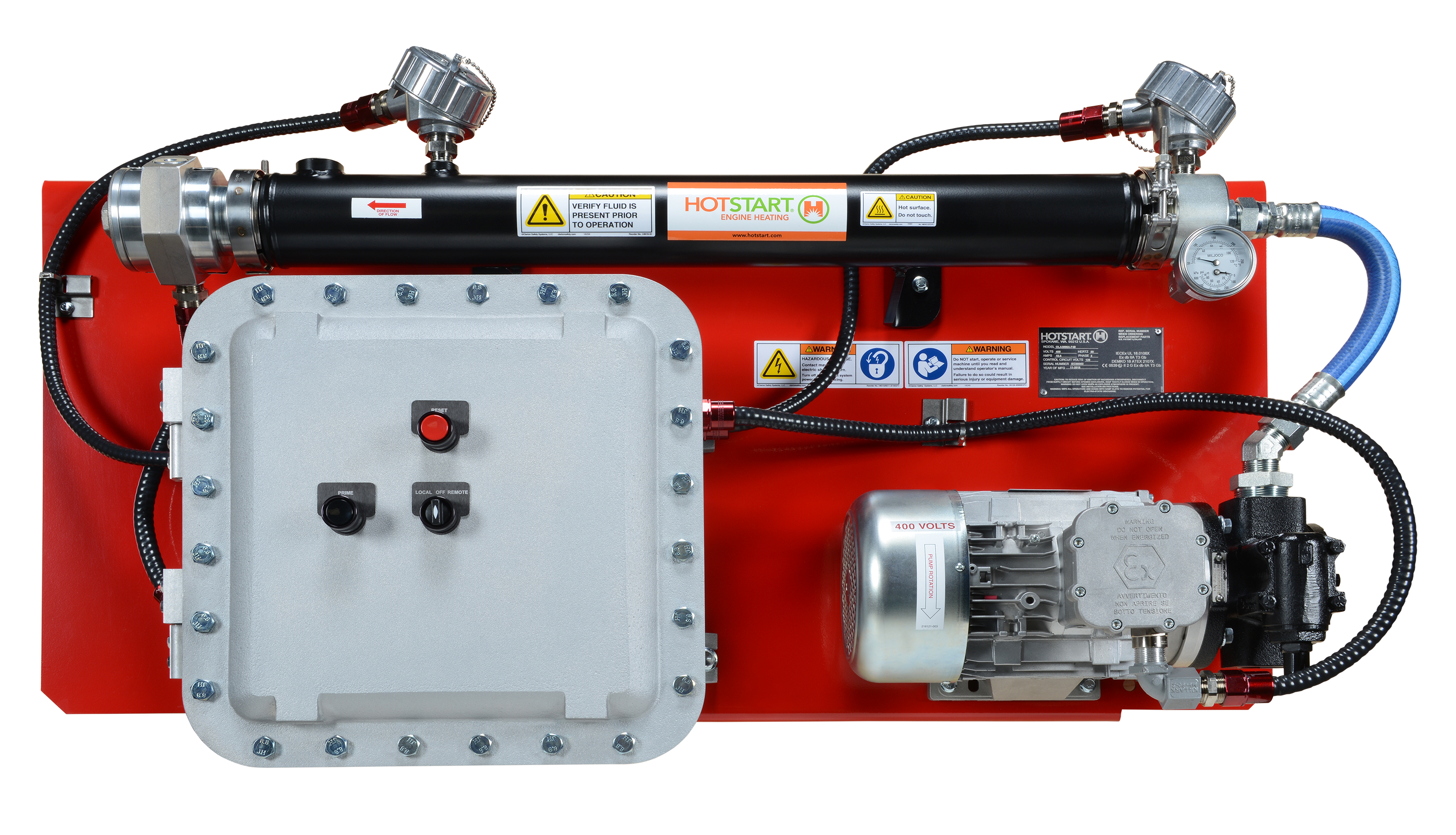 Hotstart's OLA is the largest capacity IECEx oil heating system designed for hazardous locations.